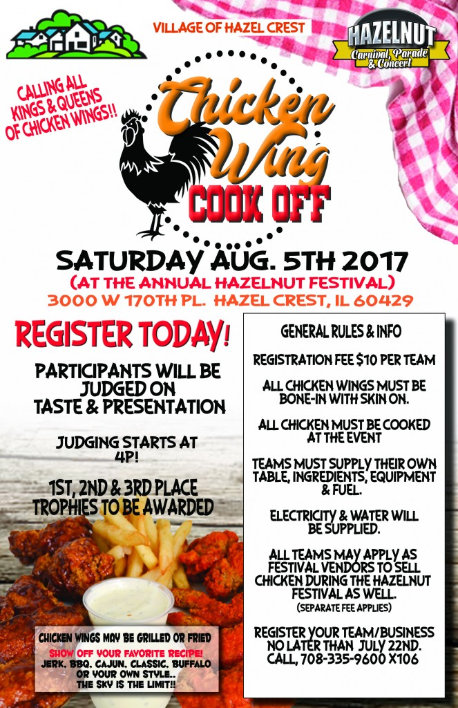 Chicken wing cookoff