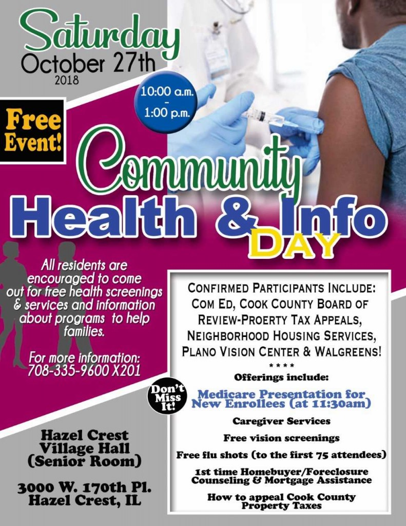 Community & Health Info Day (Oct 27)