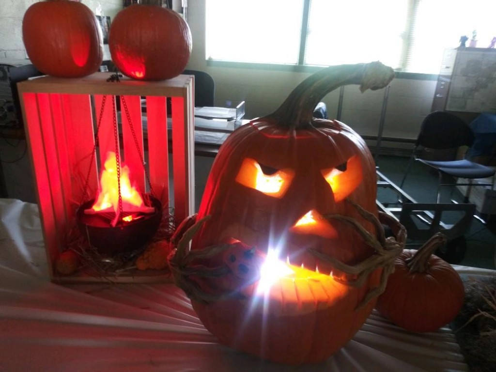 Fire & Rescue Dept staff won the first place trophy & gift card prize for pumpkin carving.