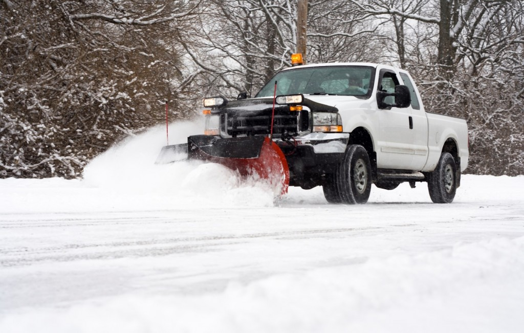 Snow plowing (Copyright Free Image)