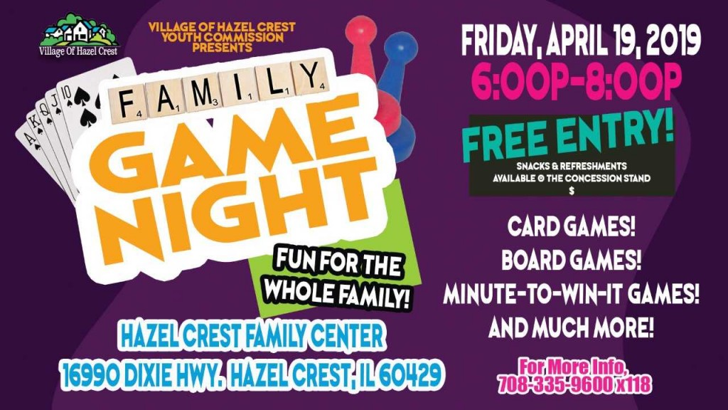 4.19.19 Youth Commission Family Game Night